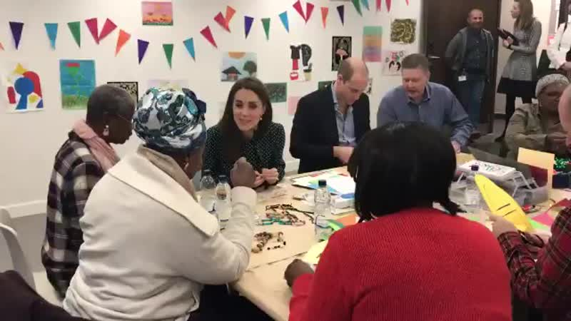 Video Kate William then joined an arts crafts session with homeless people at the Passage. Kate made bead bracelets with the lad