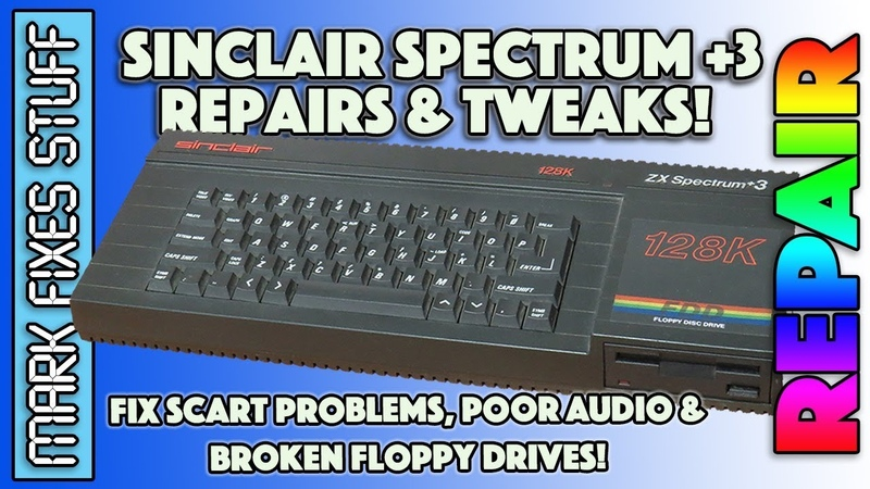 Sinclair Spectrum 3: Disk Drive, Audio RGB SCART fixes! Better Sound and Video!