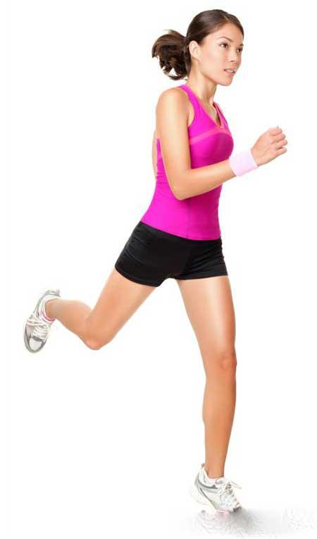 Бег - это сердечно-сосудистое упражнение, которое укрепит бедра.