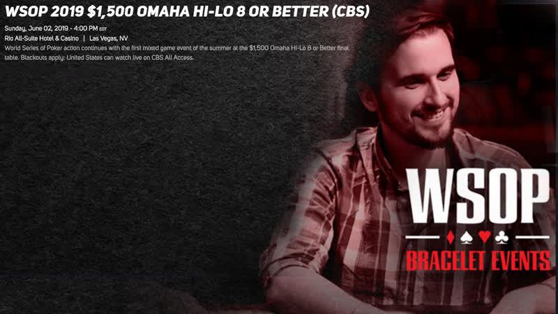 WSOP 2019 4 $1,5k OMAHA HI-LO