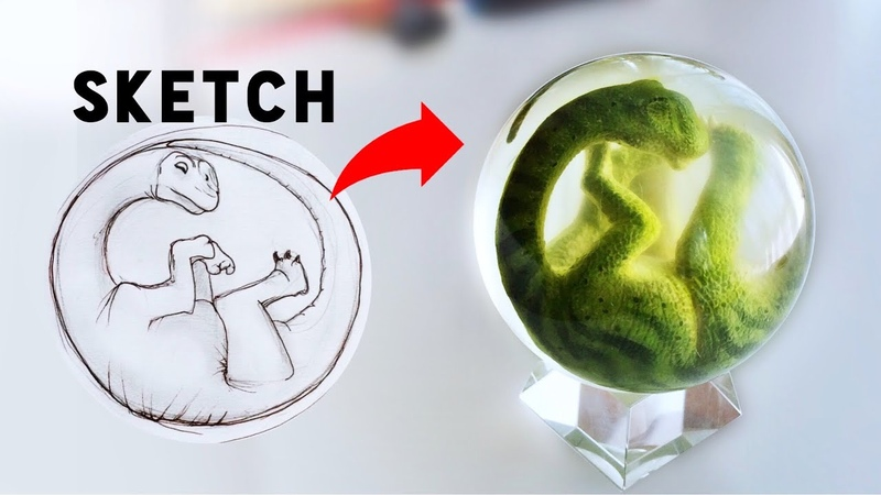 How to make a Resin Dinosaur Egg Embryo!