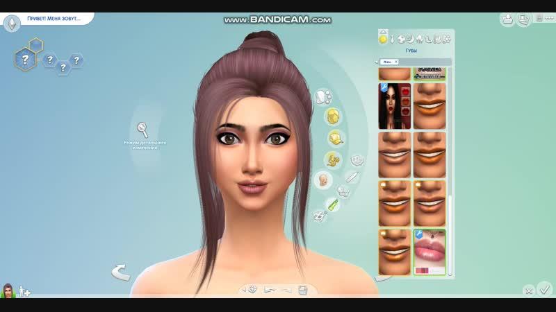 The sims 4.Создание персонажа.