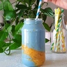 """Playitisvegan on Instagram """"Blue banana mango smoothie! This is currently my favourite go-to smoothie in the mornings💙💛Recipe here 1 ripe banan..."""