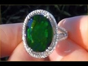 $2 Million Dollar Hermes Jewelry Collection Chrome Diopside Diamond Ring GIA Certified