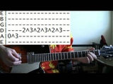 guitar lesson X files theme tab