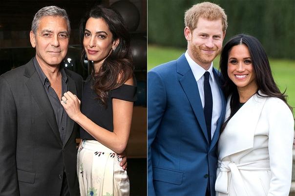 Инсайдеры: Джордж Клуни станет крестным отцом ребенка принца Гарри и Меган Маркл