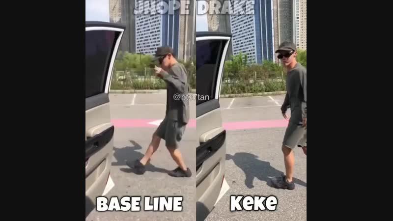 Base line vs Keke
