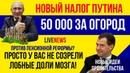 Путин и налог на огород в 50 000 Нонсенс Пенсионная реформа просто мозг не созрел