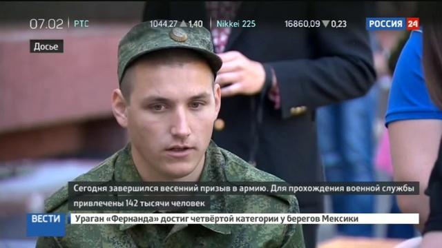 Новости на Россия 24 • Весенний призыв завершен: Минобороны отмечает уменьшение числа уклонистов