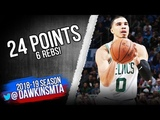 Jayson Tatum Full Highlights 2018.10.25 Celtics vs Thunder - 24 Pts, 6 Rebs! FreeDawkins