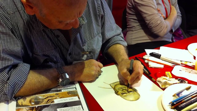 Juan Gimenez Sketches Metabaron at Angouleme 2012 Part 1 of 2