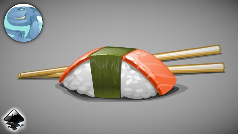 Sushi. Vector graphics with Inkscape.