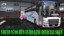 Ets2 mods Volvo 9700 bus Euro line official bus Skin and bus passenger for 1.32.x