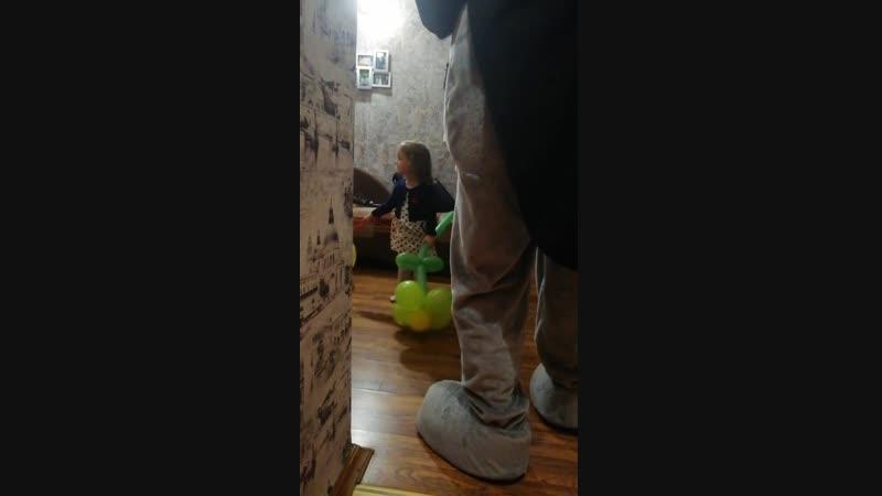 4.11.18 Мишка Тедди поздравлял маленькую девочку Кирочку с 3-х летием 👏👏👏