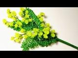 Мастер класс мимоза из бисера и пайеток Цветы из бисера Бисероплетение