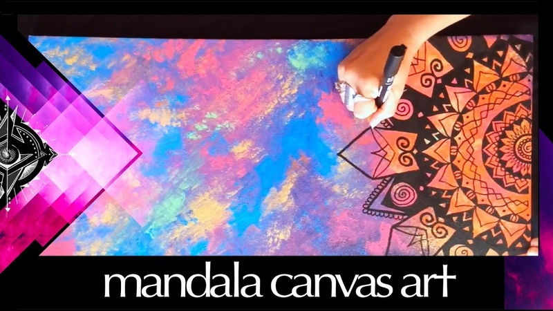 Mandala Art Canvas Speed Painting - Morgan Joanel