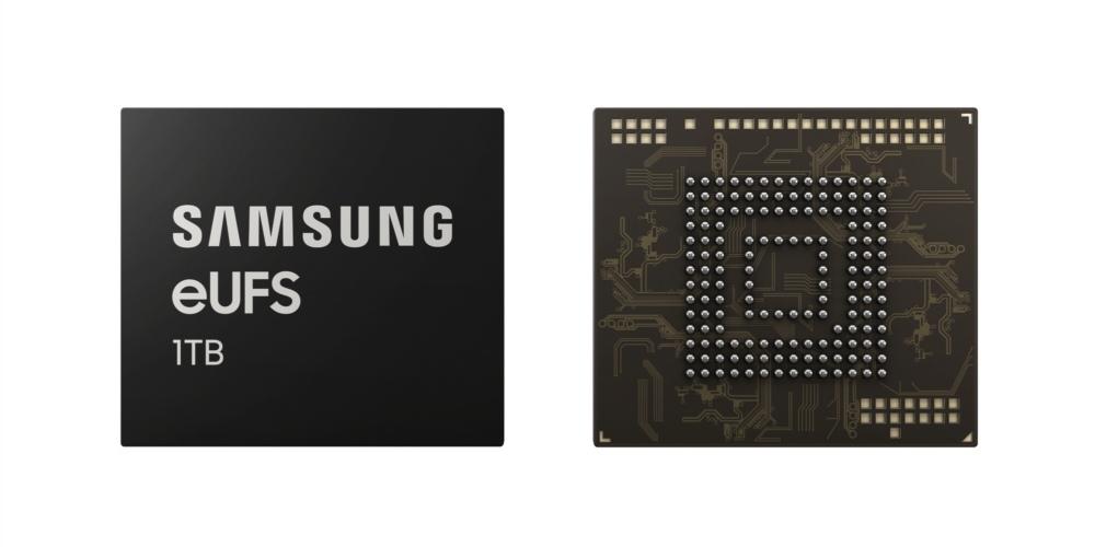 Samsung запустили производство нового чипа памяти eUFS 2.1 емкостью в 1 ТБ