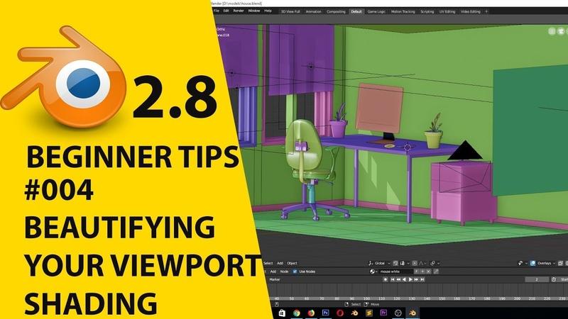 Blender 2.8 beginner tips 004 Beautifying your viewport shading