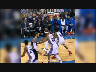 """Russ doing the """"rocking-the-baby"""" celebration against fox? 😂"""