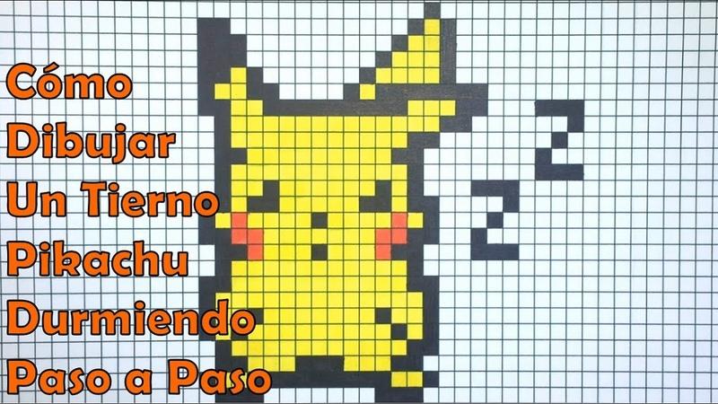 Cómo Dibujar un Tierno Pikachu Durmiendo en 8 bit o Pixel Art! TUTORIAL PASO A PASO mxf