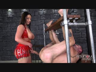 [femdomempire] angela white - sodomized ass whore [2018 г., femdom, strapon, pegging, anal, stockings, bondage, 1080p]