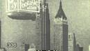 1936 GERMAN ZEPPELIN HINDENBURG FLYING OVER MANHATTAN Stock Footage in HD
