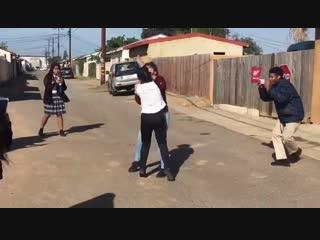 Girl fight in Ally yt