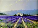 Мастер класс картина маслом Лавандовое поле Lavender