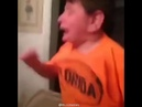 Screaming mom hitting table distorted