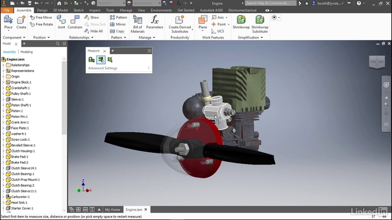 Measure tool  Autodesk Inventor 2018 New Features from LinkedIn Learning