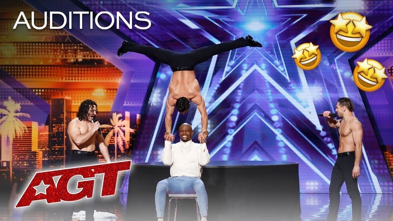 Terry Crews Joins The Messoudi Brothers For An Impressive Balancing Act - Americas Got Talent 2019