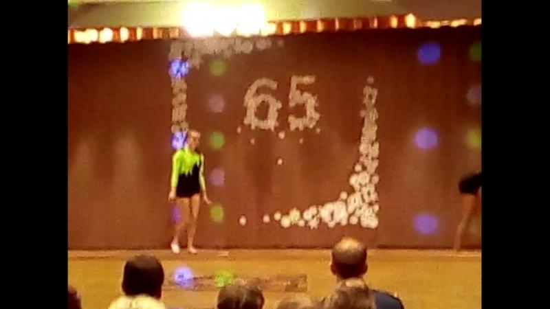Выступление наших гимнасток на юбилее школы!