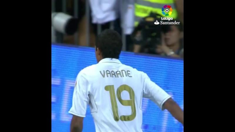 Первый гол Варана за Реал