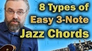 8 Awesome types of 3 note Chord Voicings and How to use them