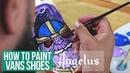 Custom Slip-On Vans Avengers Infinity War Inspired Angelus Paint