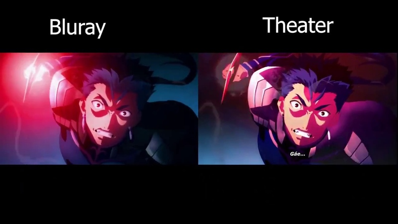 Fatestay night [Heavens Feel] - Lancer VS Assassin | BLURAY VS DVD Comparison [60FPS]