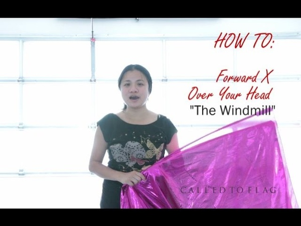Tutorial Worship Flags Dance (How to The Windmill) CALLED TO FLAG Praise ft Claire