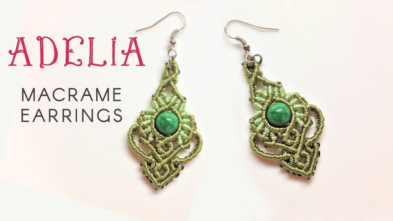 Macrame jewelry set tutorial - The Adelia earrings - Hướng dẫn thắt hoa tai Adelia