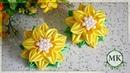 Цветы из узкой ленты шириной 1 2 см МК Канзаши DIY Kanzashi Ribbon flowers