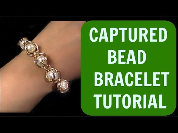 STEP BY STEP CAPTURED BEAD CHAINMAILLE BRACELET TUTORIAL GUARANTEED YOUR BEADS WON'T FALL OUT