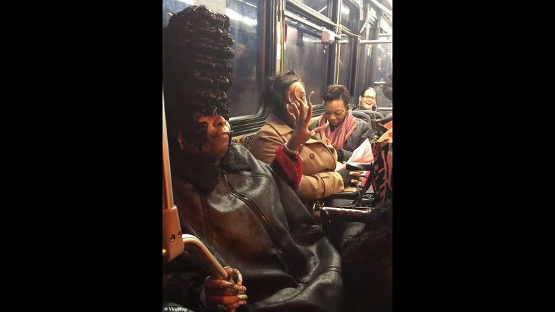 'Bye, Felicia!': Hair-larious argument erupts on a bus over 'crazy' woman's extravagant hairstyle