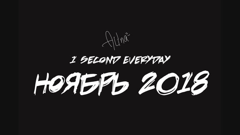 1 Second Everyday-Ноябрь2018
