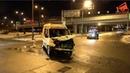 Авария со скорой на Варшавском шоссе в Москве 29.11.18