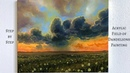 STEP by STEP field of dandelions acrylic painting ColorbyFeliks