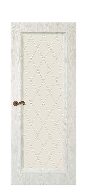 Дверь Магнолия 4, дуб белый жемчуг