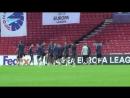 Зенит-ТВ показывает заключительный этап подготовки команды к первому матчу группового этапа Лиги Европы УЕФА - - КопенгагенЗенит
