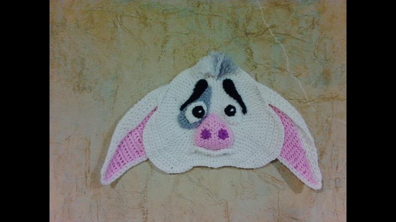 Прихватка Поросенок Пуа, ч.2. Pothook is a pig of Pua, р.2. Amigurumi. Crochet.