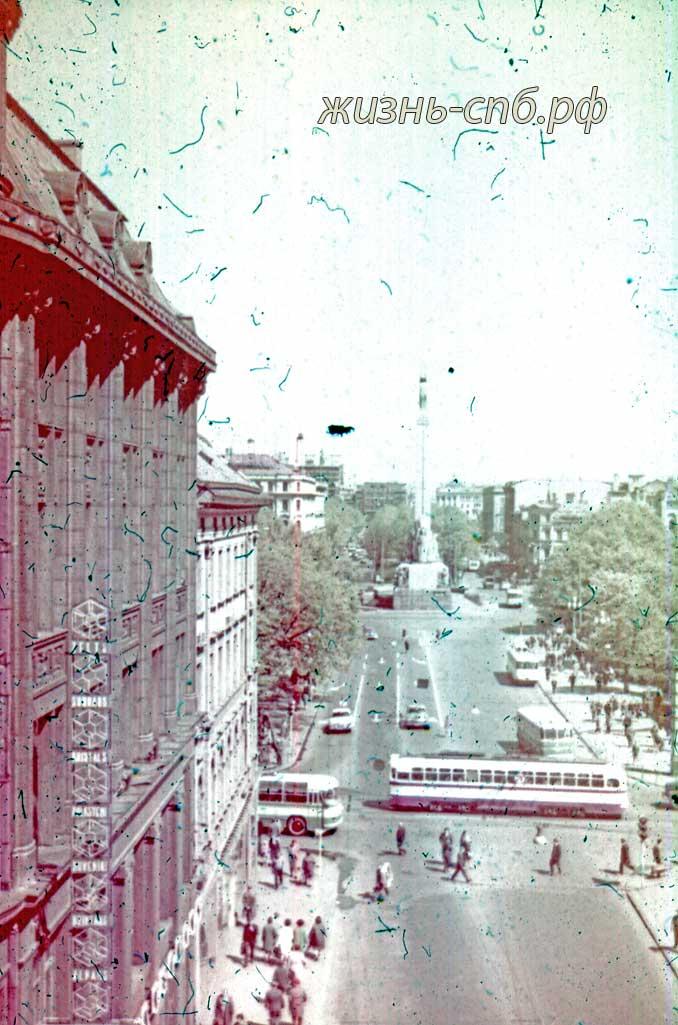 Латвия времен СССР. г. Рига. Улица Ленина. архивные фото