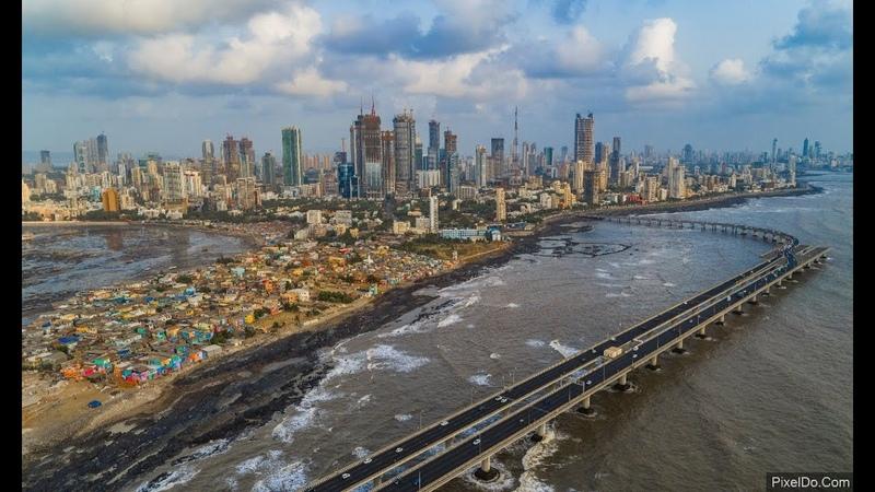 Worli Skyline - Mumbai Drone Video