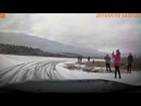 Катка на Чемпионате Миасса по ледовым гонкам. Вторая попытка. Audi 90 2.3 Quattro.